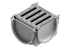 Render do Kit 4ALL Conexão 4 pontos cinza c/ Grelha HDPE A15
