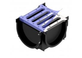 Render do Kit 4ALL Conexão 4 pontos preto c/ Grelha inox A15