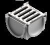 Render do Kit 4ALL Conexión 4 lados gris c/ Reja Galva A15