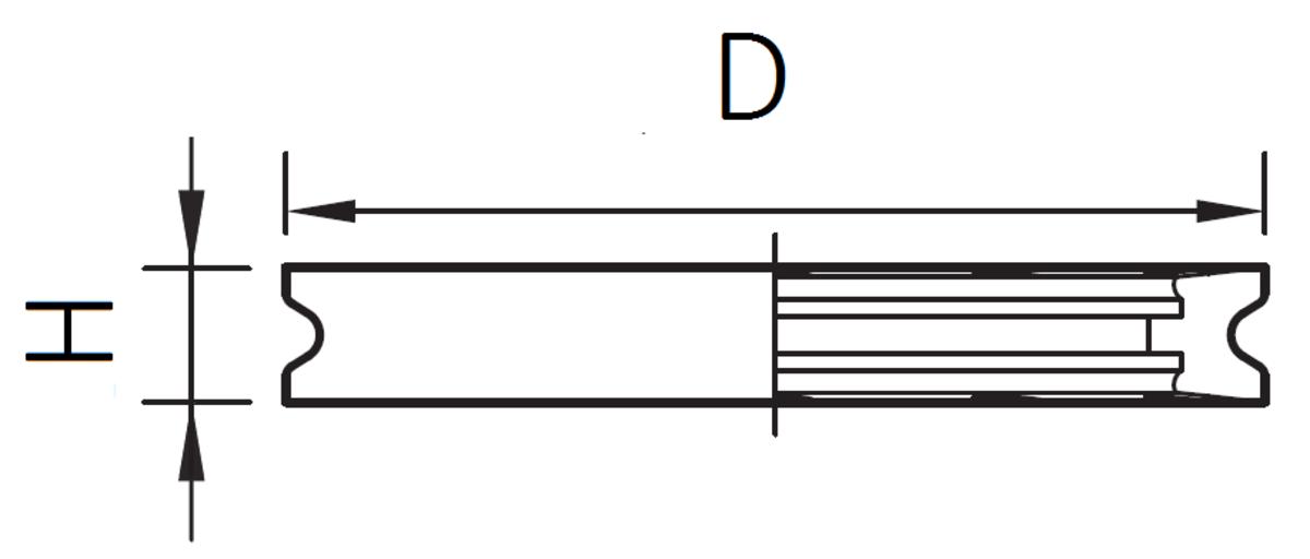 Esquema técnico del soporte de sifón en NBR, de Ø156 H21 para sumideros EG con fondo Ø156.
