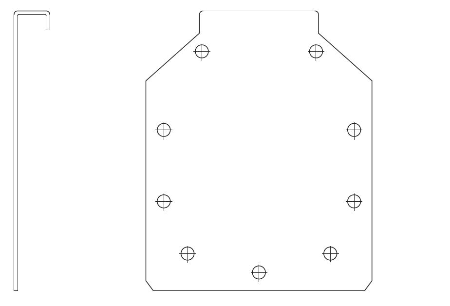 Esquema técnico general de la tapa final del canal RANURADO ESP