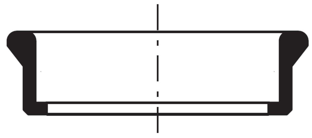 Esquema técnico general da junta da tubagem PIPE, junta para ligação do sumidouro de fundição a tubagem, realizada em EPDM.
