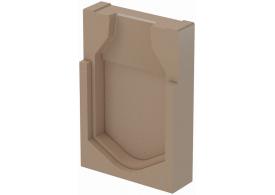 Render de la tapa final para el canal MONOBLOCK RD300V L40 A400 H600 en homgión polímero.