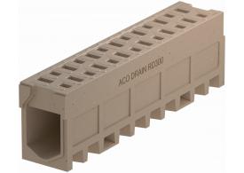 Render do canal MONOBLOCK RD300V 0.0 em betão polímerico com grelha integrada F900