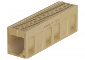 Render do canal de inspecção MONOBLOCK PD200V em betão polímerico com grelha integrada
