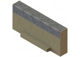 Render da tampa inicio/final para o canal MULTILINE V100 L20 A123 H60 em betão polímerico com bastidor em aço galvanizado.