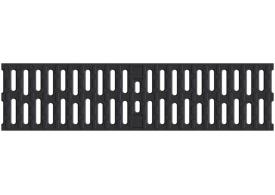 Render de la reja para canal MULTIDRIAN/MULTILINE/XTRADRAIN 100, reja pasarela en fundición de dimensiones L500 A123 H21/21 con sistema de fijación Drainlock, clase de carga B125.