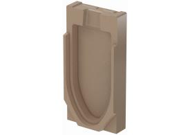 Render de la tapa final para el canal MONOBLOCK RD200V 20.0 L70 A260 H530 en homgión polímero.