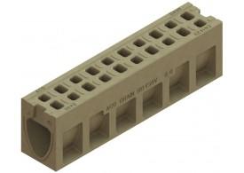 Render do canal de inspecção MONOBLOCK RD150V em betão polímerico com grelha integrada F900