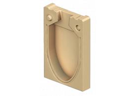 Render da tampa inicio/final para o canal MONOBLOCK RD150V 0.0 L50 A210 H280 em betão polímerico.
