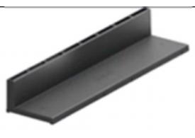 Render de la reja para canal HEXALINE 100, reja brickslot L en polipropileno (PP) de dimensiones L500 A120 H75 sin sistema de fijación, clase de carga A15.