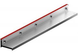 Render de la reja para canal MULTIDRIAN/MULTILINE/XTRADRAIN 100, reja brickslot-ST L H65 en acero galvanizado de dimensiones L1000 A123 H88 sin sistema de fijación, clase de carga C250.