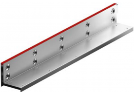 Render de la reja para canal MULTIDRIAN/MULTILINE/XTRADRAIN 100, reja brickslot-ST L H105 en acero galvanizado de dimensiones L1000 A123 H129 sin sistema de fijación, clase de carga D400.