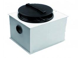 Render del separador de grasas biológico aéreo FSP NS2 de polietileno,  de dimensiónes L610 A520 H440