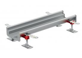 Render del canal Modular 125 L500 H63 de altura interior H50 en acero inoxidable AISI304