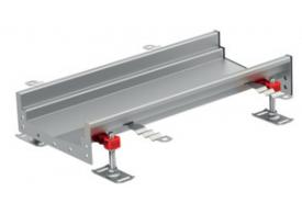 Render del canal Modular 200 L500 H81,5 de altura interior H60 en acero inoxidable AISI304