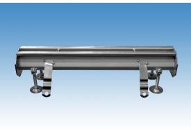 Render do canal RANHURADO ESP L500 H85 de altura interior H70 em aço inoxidável AISI304