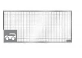 Render generico da grelha para claraboia THERM, grelha entramada 30x10 classe de carga 9kN.