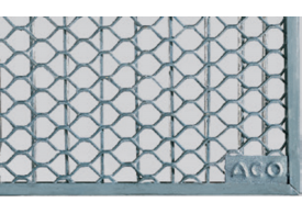 Render generico da grelha para claraboia THERM, grelha entramada romboidal classe de carga 1,5kN.