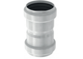 Render general da manga da tubagem PIPE, manga de união realizada em aço inoxidável.
