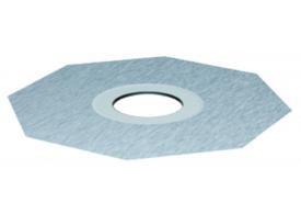 Render do aro para impermeabilizacão liquida em plástico, para sumidouros EASYFLOW DN125.