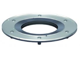 Render do aro para icompressão da tela em aço inoxidável AISI304, para sumidouros EASYFLOW.