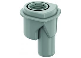 Render de la cazoleta para SHOWERDRAIN-M/B L115 A103 H139 en plástico ABS, con salida vertical DN50 y sifón.