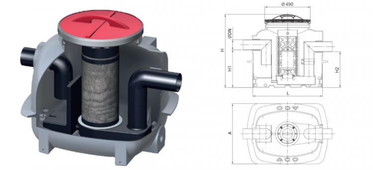 Separador em superfície COALISATOR-P