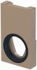Render da tampa inicio/final com junta labiolaberíntica DN/OD 110 para o canal MONOBLOCK RD100V 0.0 L40 A160 H275 em betão polímerico.