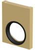 Render da tampa inicio/final com junta labiolaberíntica DN/OD 160 para o canal MONOBLOCK PD200V 0.0 L40 A250 H320 em betão polímerico.
