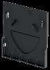 Render da tampa inicio/final para o canal XTRADRAIN 150 L11 A188 H210 em composite plástico preto.