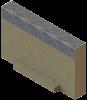 Render de la tapa inicio/final para el canal MULTILINE V100 L20 A123 H80 en homgión polímero con bastidor en acero galvanizado.