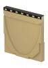 Render de la tapa final para el canal MULTILINE V400 0.0 L30 A450 H480 en homgión polímero con bastidor en fundición.
