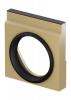 Render de la tapa inicio/final con junta labiolaberíntica DN/OD 315 para el canal MULTILINE V400 0.0 L30 A450 H480 en hormigón polímero.