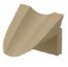 Render de la calza de emplame para los canales MULTILINE V100 L80 A73 H50 en hormigón polímero.