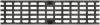 Render de la reja para canal MULTIDRIAN/MULTILINE/XTRADRAIN 100, reja entramada 31X12 en fundición de dimensiones L500 A123 H21/21 con sistema de fijación Drainlock, clase de carga C250.