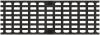 Render de la reja para canal MULTIDRIAN/MULTILINE/XTRADRAIN 150, reja entramada 29X12 en fundición de dimensiones L500 A173 H21/21 con sistema de fijación Drainlock, clase de carga C250.