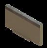 Render de la tapa inicio/final para el canal MULTILINE V200 L20 A235 H120 en homgión polímero con bastidor en acero galvanizado.