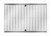Render de la reja para canal MULTILINE 300, reja entramada lisa16x22 en acero galvanizado de dimensiones L500 A338 H31/50 con sistema de fijación Drainlock, clase de carga C250.