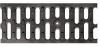 Render da grelha para canal N 100, grelha passarela em composite plástico da dimensões L500 A124 H21 com sistema de fixação com clavilha, classe de carga C250.
