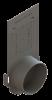 Render de la tapa inicio/final con manguito DN/OD 110 para el canal MULTILINE V100 L110 A135 H300 en polipropileno.