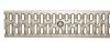 Render da grelha para canal N 100, grelha passarela em aço galvanizado da dimensões L1000 A123 H21 com sistema de fixação com clavilha, classe de carga A15.
