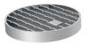 Render da grelha para sumidouro EG, grelha de barras antiderrapantes em aço inoxidável AISI304 da dimensões Ø170 H30 sem sistema de fixação, classe de carga M125.