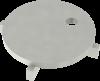 Render da grelha para sumidouro EG, grelha ranhurada em aço inoxidável AISI304 da dimensões Ø170 H30 sem sistema de fixação, classe de carga M125.