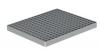 Render da grelha para sumidouro EG, grelha entramada antiderrapante 23x23 em aço inoxidável AISI304 da dimensões L168 A168 H25 sem sistema de fixação, classe de carga L15.
