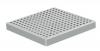 Render da grelha para sumidouro EG, grelha quadrato em aço inoxidável AISI304 da dimensões L218 A218 H30 sem sistema de fixação, classe de carga L15.