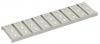 Render de la reja para canal Modular 125, reja multislot 8 en acero inoxidable AISI304 de dimensiones L500 A125 H20 sin sistema de fijación, clase de carga A15.