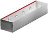 Render da grelha de inspecção para canal MULTIDRIAN/MULTILINE/XTRADRAIN 100, grelha brickslot-ST L H65 em aço galvanizado da dimensões L500 A123 H88 sem sistema de fixação, classe de carga C250.