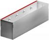 Render da grelha de inspecção para canal MULTIDRIAN/MULTILINE/XTRADRAIN 100, grelha brickslot-ST L H150 em aço galvanizado da dimensões L500 A123 H173 sem sistema de fixação, classe de carga D400.