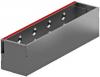 Render de la reja registro para canal MULTIDRIAN/MULTILINE/XTRADRAIN 150, reja brickslot L H105 en acero galvanizado de dimensiones L500 A173 H127 sin sistema de fijación, clase de carga C250.